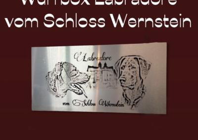 Aluschild Lab Schloss Wernstein